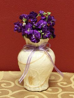 Handmade Rose Petal & Grasses Paper Design Vase by KjgBoutique on Etsy