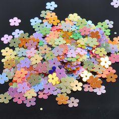 23g(1500pcs) Mini Mixed Flower Sequin For Crafts&Paillette Sewing Scrapbooking lentejuelas 12mm CP0812