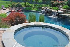 Pebble Sheen Turtle Bay - Leesburg, Virginia, Sun Shelf, Raised Spa, Boulders, Water Feature, Water Fall, Sheer Descent