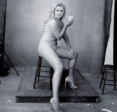 """After posing semi-nude for the 2016 Pirelli calendar, Amy posted this picture to Twitter with the caption, """"Beautiful, gross, strong, thin, fat, pretty, ugly, sexy, disgusting, flawless, woman. Thank you Annie Leibovitz!"""""""
