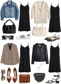 New Wardrobe, Capsule Wardrobe, Basic Outfits, Fall Outfits, Lilly Pulitzer, Dress With Cardigan, Marchesa, Leather Dresses, Zuhair Murad