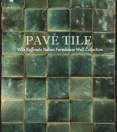 Villa Raffinato Italian Terra Cotta Wall Tile Turquoise