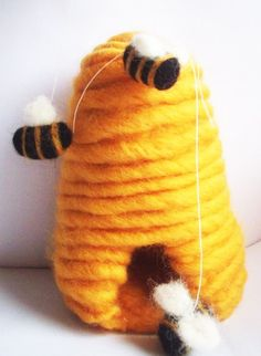 felted beehive