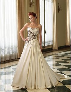 Vestido de Noiva Trapézio Coração Cauda Corte ( Renda/Cetim ) - EUR € 449.99