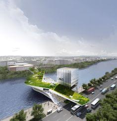 24/7 Puente habitable en Sevilla de Yrat Khusnutdinov & Zhang Liheng
