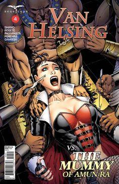 ~ Zenescope comic Van Helsing Vs The Mummy of Amun-Ra #6 6A cover
