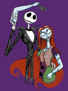 Jack and Sally by twiggzzler on deviantART