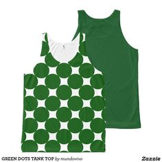 GREEN DOTS TANK TOP All-Over PRINT TANK TOP