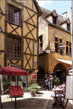| ♕ |  Medieval street of Sarlat, France  | by © Capt' Gorgeous