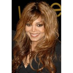 Janet Jackson At Arrivals For Cartier Charity Love Bracelet Launch Canvas Art - x Soft Bangs, Layers And Bangs, Haircuts For Long Hair With Layers, Long Hair With Bangs, Long Layered Hair, Long Hair Cuts, Hairstyles With Bangs, Cool Hairstyles, Medium Hair Cuts