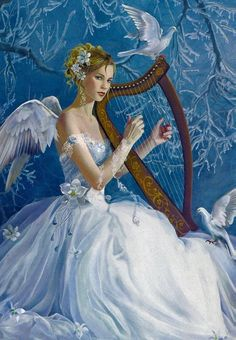Chorus Angel With Harp ~ Néné Thomas