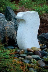 Aquascape 98914 White Granite Modern Curved Fountain Water Feature for Landscape and Garden ** Be sure to check out this awesome product. (This is an affiliate link) #IndoorFountainsandAccessories