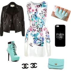 Stitch Fix - I like how all the colors are used in this outfit. I do happen to like the dress and jacket, but I don't know if I could wear shoes like that.