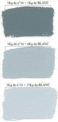 Bleu d'orage - dégradé avec du blanc - Emery - peinture mate