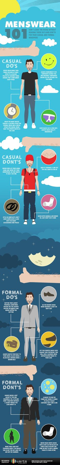 Infographic: Menswear 101: The Do's and Don'ts