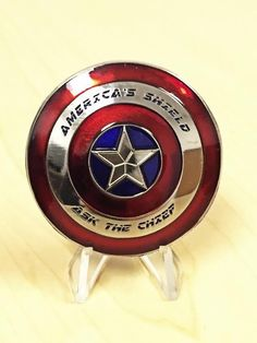 Captain America Shield CPO Navy Super Hero Challenge Coin Military in Collectibles, Militaria, Current Militaria (2001-Now) | eBay