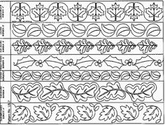 Leaf Borders #2 - Paper - Multiple Sizes - Quilts Complete - Continuous Line Quilting Patterns