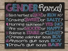 Gender Reveal Party Chalkboard Old Wive's by CustomChalkPosters, $15.00