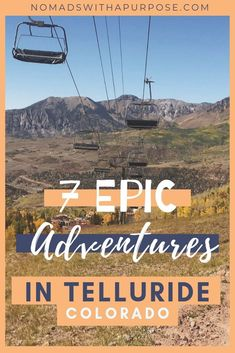 Deep in the San Juans pressed up against the towering Dallas Divide, Telluride is filled with truly Road Trip To Colorado, Colorado Hiking, Colorado Mountains, Colorado Springs, Snowshoe, Rafting, The Places Youll Go, Places To Go, Telluride Colorado