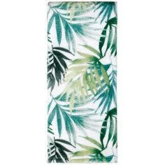 Bring a leafy green beach theme to your bathroom with this Maui printed hand towel. In green. FEATURES x Tropical theme CONSTRUCTION & CARE Cotton Machine wash Imported Size: One Size. Cotton Towels, Hand Towels, Green Beach, Palm Fronds, White Texture, Bath Towel Sets, Beach Themes