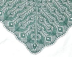 peacock feathers shawl lace daily knitting patterns ...
