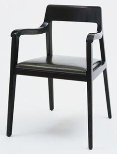 edward wormley mahogany + leather armchair | 1946 | #vintage #1940s #home