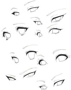 Pin by reedkam on practicing eyes in 2019 art sketches, manga eyes, art ref Drawing Body Poses, Drawing Reference Poses, Drawing Eyes, Drawing People Faces, Shading Drawing, Female Drawing, Anime Drawings Sketches, Anime Sketch, Pencil Drawings