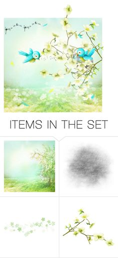 Birdies :) by vampire-kate on Polyvore featuring art
