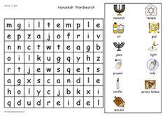 hanukkah word search for kids | Widgit Symbol Resources - Festivals of Light - Hanukkah - FREE