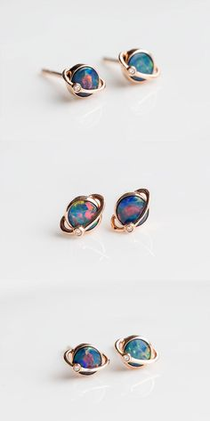 Free Gift Bag/Box with every order! Natural Australian Doublet Black Opal, Round Shaped. Every Opal piece is Unique. You won't find two exactly identical opal gems because of their unrepeatable play-of-color. | eBay!