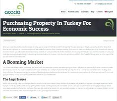 Things to know when purchasing property from Turkey