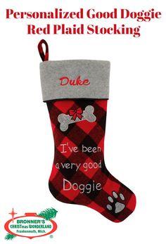 Gugou Dog Cat Paw Christmas Stockings Plush /& Plaid Hanging Socks for Holiday and Christmas Decorations Set of 2