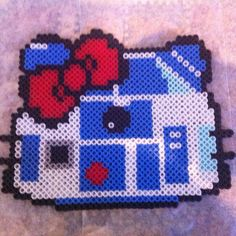 R2D2 Hello Kitty perler bead sprite by orangeambu