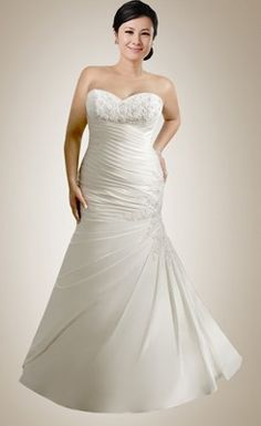 Sexy Mermaid Sweetheart Beaded Plus Size Wedding Dress with Appliques