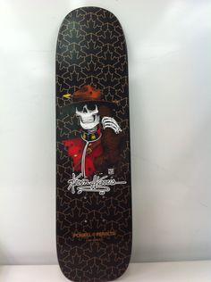"Powell-Peralta Kevin Harris ""Mountie"" Freestyle Skateboard Deck (Black/Gold, 26.6""X 7"")"