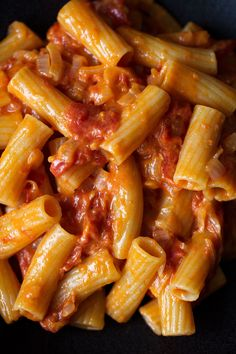 spicy rigatoni recipe from cooking with cocktail rings inspired by Carbone NYC #pasta #recipe