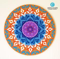 Mandala feita por encomenda - 40cm - Tinta acrílica em madeira mdf. #cristinaduarte07 #mandala #encomenda