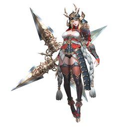 Hak-sun-kim-kunoichi-w render by on DeviantArt Fantasy Girl, Fantasy Female Warrior, Female Knight, Warrior Girl, Fantasy Armor, Fantasy Character Design, Character Design Inspiration, Character Concept, Character Art