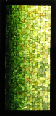 lovely graduated green tiling