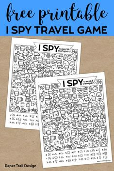 Free Printable I Spy Road Trip Activity {Travel & Transport}. Fun boredom buster kids game for a rainy day, or summer activity. Free Printable I Spy Road Trip Activity {Travel & Transport}. Fun boredom buster kids game for a rainy day, or summer activity. Kids Travel Activities, Road Trip Activities, Road Trip Games, Activities For Kids, Car Games For Kids, Educational Games For Kids, Church Activities, Camping Games, Indoor Activities