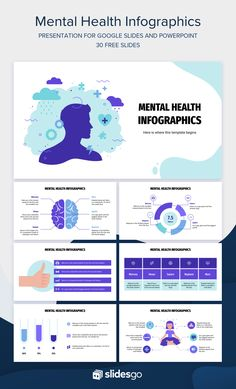 Free Powerpoint Presentations, Powerpoint Background Design, Powerpoint Presentation Templates, Ppt Template, Importance Of Mental Health, Free Mental Health, Presentation Backgrounds, Presentation Layout, Text Layout