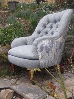 Antique button-back Chair   Charlton Interiors