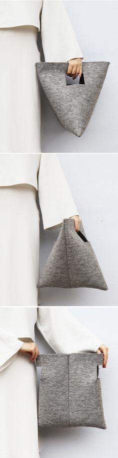 M Bag | by IF irinaflorea | minimalist | felt