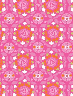 Sunshine Collection -Circle in Pink by Dena™ Designs for Free Spirit Fabrics