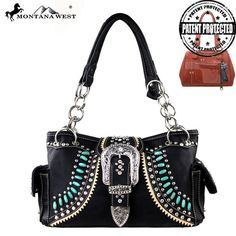 MW165G-8085 Montana West Buckle Collection Handbag