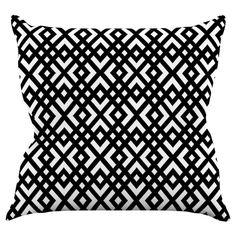 Kess InHouse Trebam Dijagonala Indoor / Outdoor Throw Pillow - TK1004AOP0