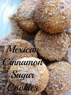 Melt-in-your-mouth Mexican Cinnamon Sugar Cookies fill your home with the spicy cinnamon fragrance reminiscent of the holidays. Mexican Sweet Breads, Mexican Bread, Mexican Food Recipes, Cookie Recipes, Mexican Pastries, Mexican Cookies, Mexican Wedding Cookies, Mexican Sugar Cookie Recipe, Mexican Candy