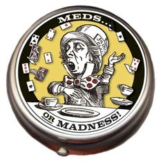 Mad Hatter Pill Box, from the Unemployed Philosophers Guild. #medication #pills #storage