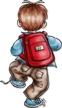 To School stamp by Mo's Digital Pencil - colored by Sherry Clipart Boy, School Clipart, Boy Images, Children Images, Boy Cards, Kids Cards, Classroom Art Projects, Mo Manning, Copics
