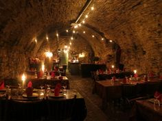 The Catacombs Restaurant at Bube's Brewery, Mt. Joy, PA. I've been here, really cool place!
